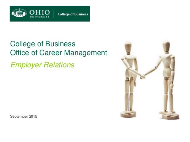 ohio college of business employer relations strategy