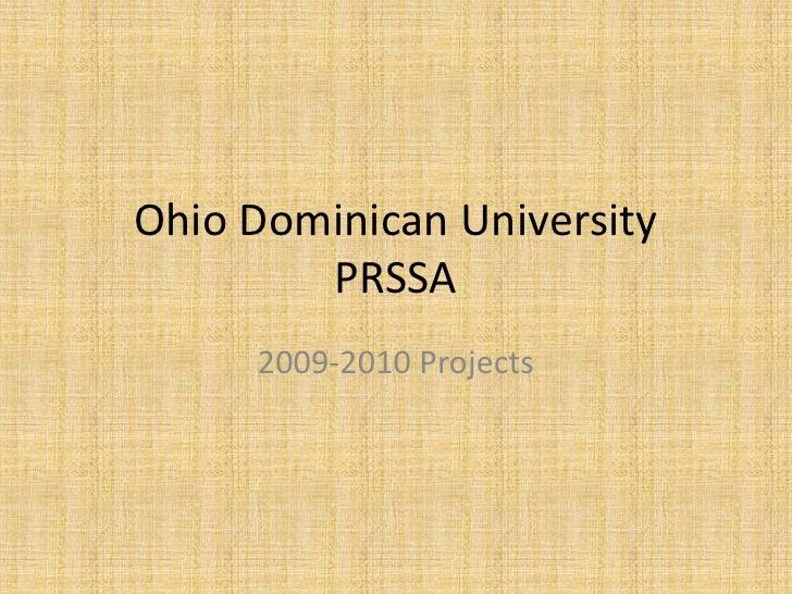Ohio Dominican University PRSSA<br />2009-2010 Projects<br />