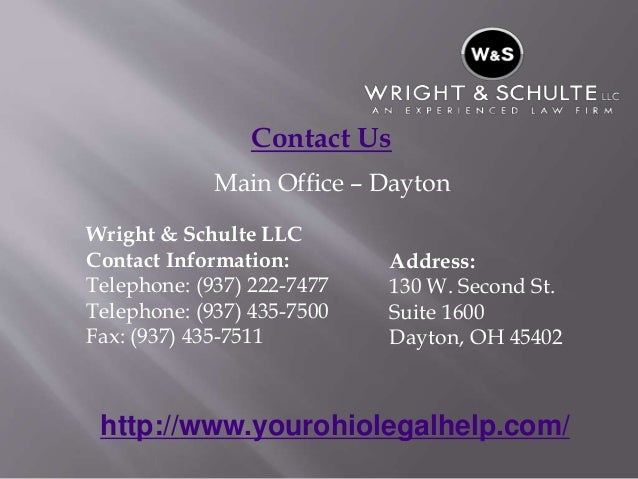 Oh Law Firm >> Ohio Law Firm Ohio Wrongful Death Lawyers Wright Schulte Llc Y