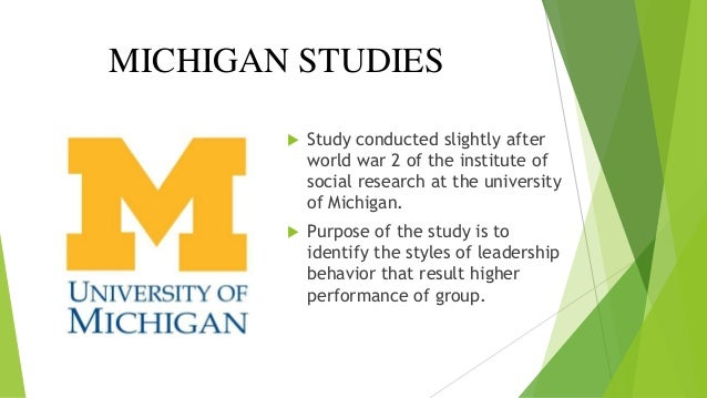OHIO STATE & MICHIGAN LEADERSHIP THEORY