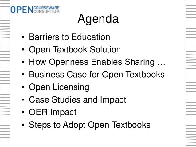 Ohio Textbook Affordability Summit: Why Openness Matters?