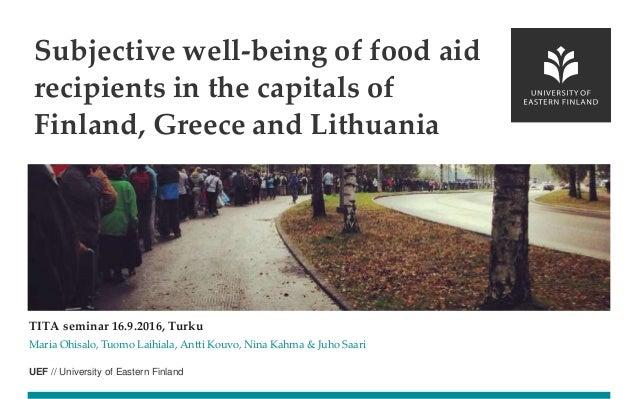 UEF // University of Eastern Finland TITA seminar 16.9.2016, Turku Maria Ohisalo, Tuomo Laihiala, Antti Kouvo, Nina Kahma ...