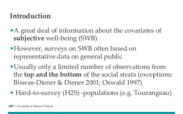 Subjective well-being of food aid recipients in the capitals of Finland, Greece and Lithuania  Slide 2