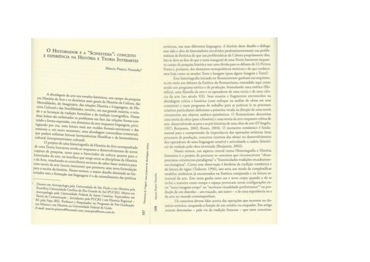 O historiador e a scinestesia
