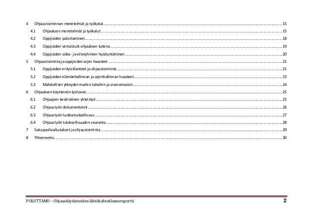 Poluttamo-hanke: Lähtötilanneraportti ohjauskäytänteistä Slide 2