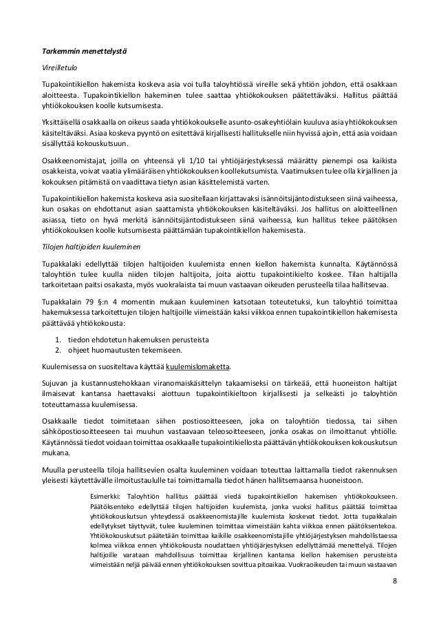 Yhtiökokouskutsu Malli