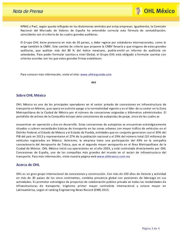 OHL México reafirma sus compromiso de inversiones en