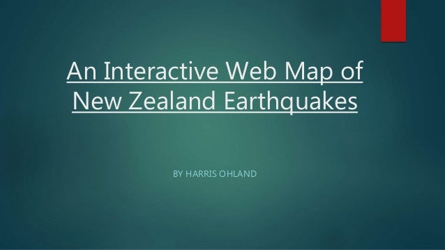 New Zealand Interactive Map.Interactive Web Map Of New Zealand Earthquakes