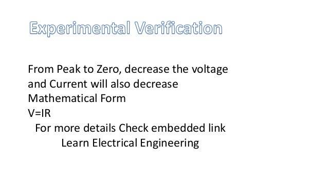 Ohm law experimental verification