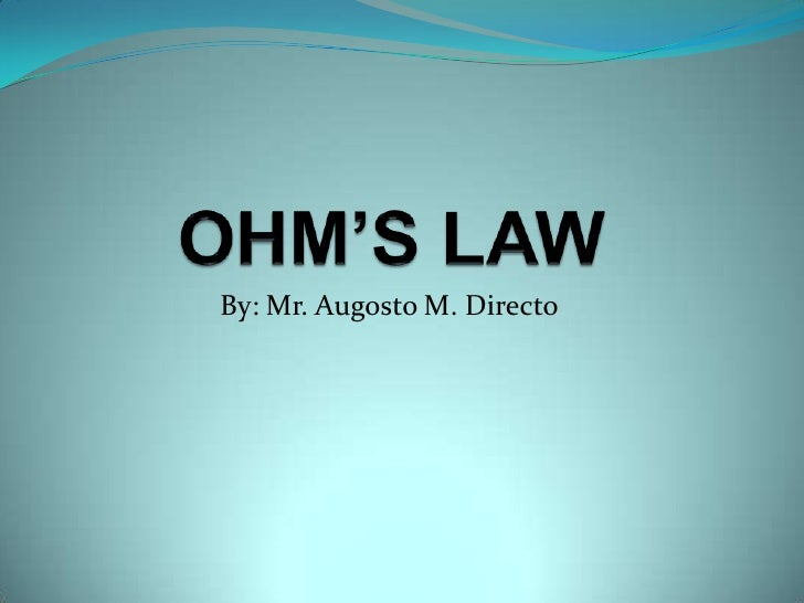 ohms law coursework This lesson plan introduces high school students to ohms' law students will watch a short video, perform practice calculations, and then apply.