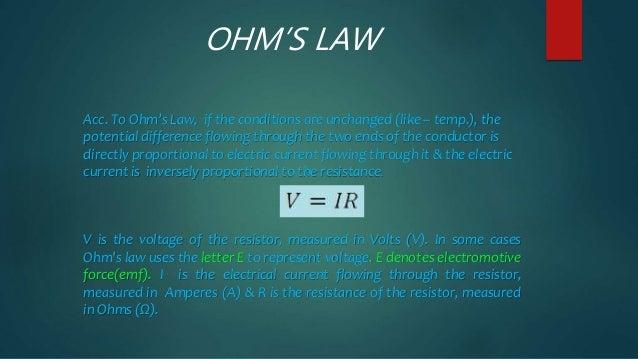 Ohm's law Slide 3