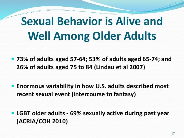 Sexually active adults