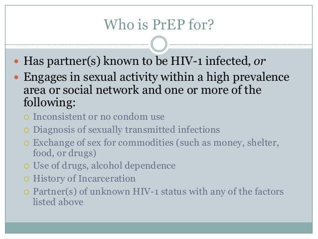 HIV Pre Exposure Prophylaxis Slide 3