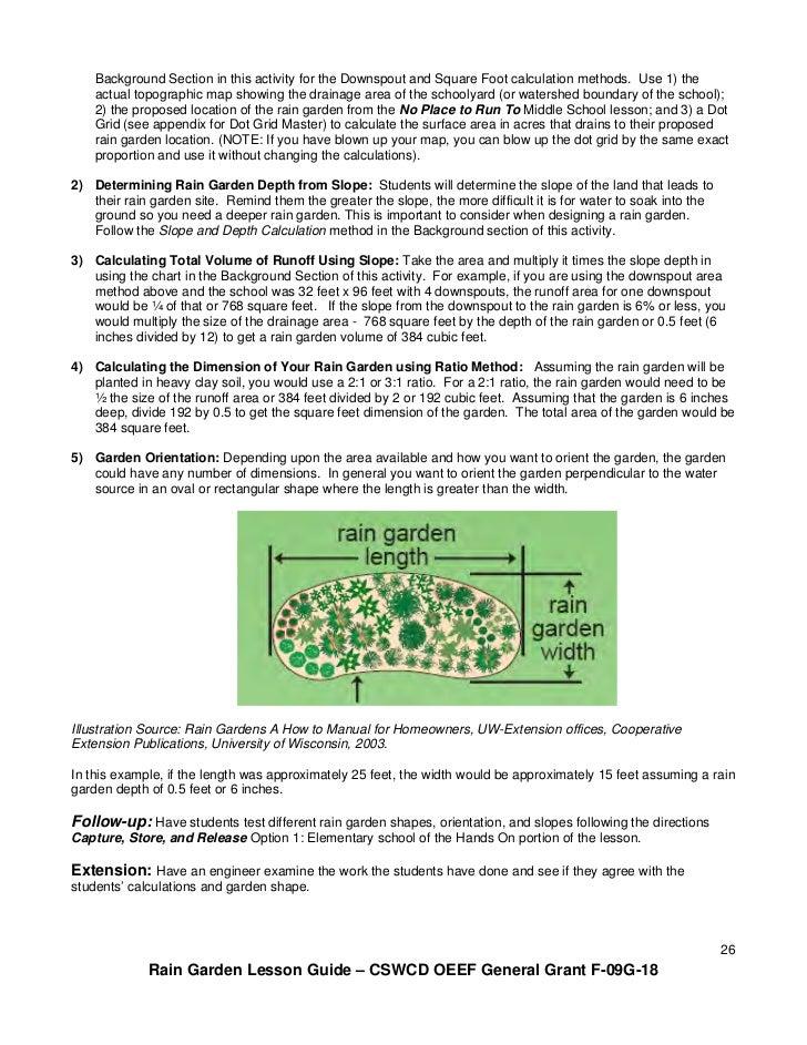 OH: Rain Garden Lesson Guide for Schools, Grades 3 - 12