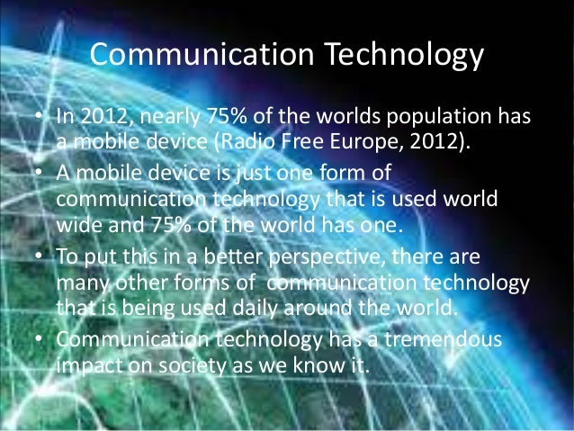 What will the communication technology landscape look like