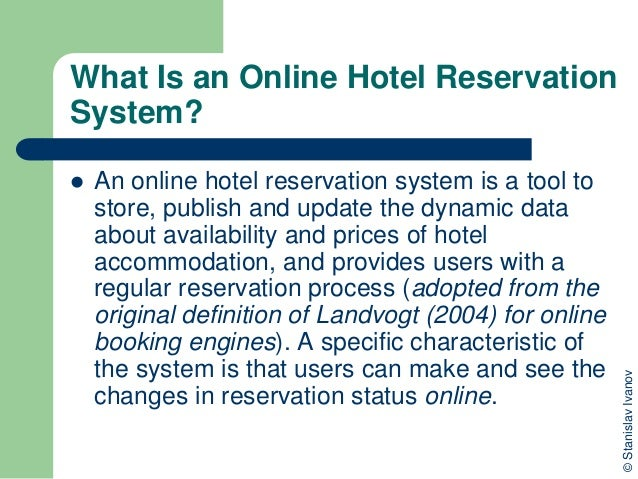 Online hotel reservation systems for Design hotel reservation system