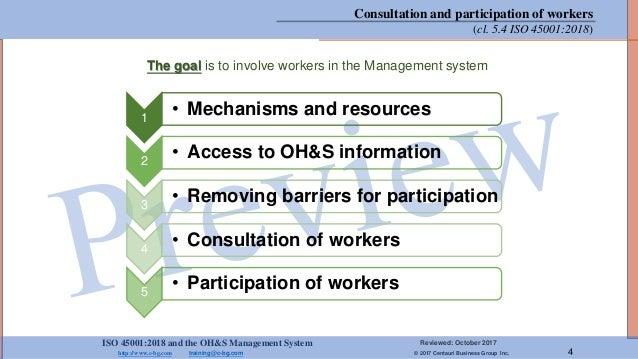 ISO 45001:2018 and the OH&S Management System Reviewed: October 2017 http://www.c-bg.com training@c-bg.com © 2017 Centauri...