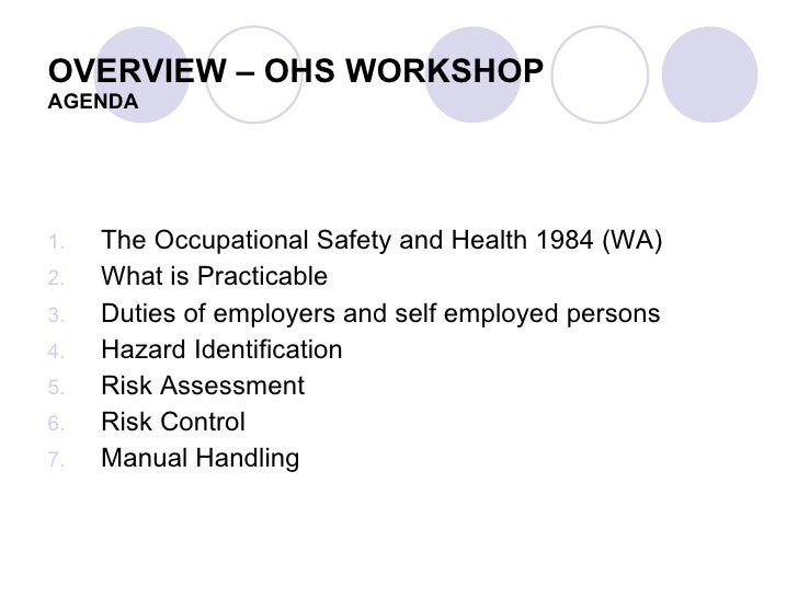 occupation health and safety Occupational health and safety [no 36 of 2010 523 an act to establish the occupational health and safety institute and provide for its functions provide for the.