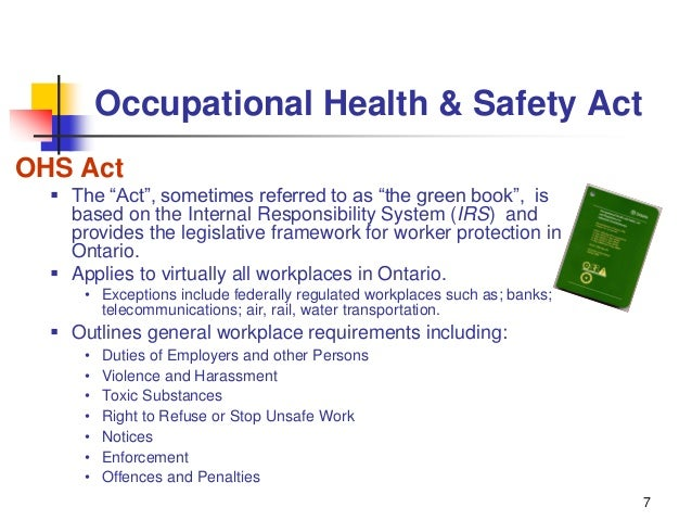 occupational health and safety issues in