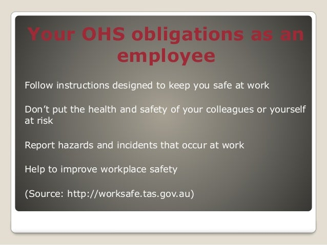 Occupational Health and Safety Powerpoint Presentation