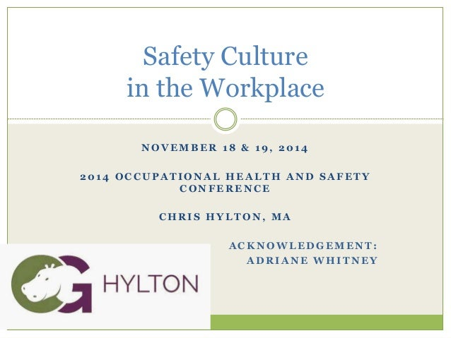 Ohs safety culture in the workplace november 2014 ohs safety culture in the workplace november 2014 n o v e m b e r 1 8 1 9 2 0 1 4 2 0 1 4 o c c u p a t i o n a l h e a l t h a n d publicscrutiny Image collections