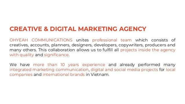 OhYeah Communications - Creative & Digital Marketing Agency Slide 3
