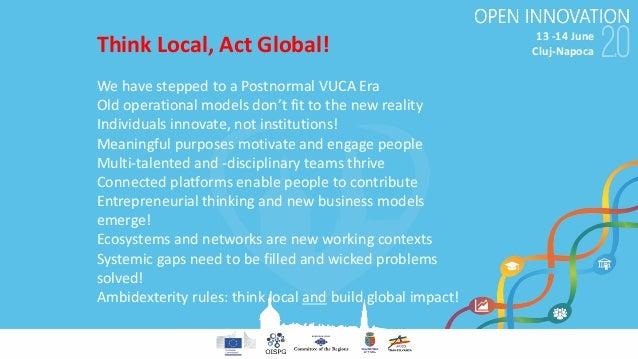 13-14June Cluj-Napoca WehavesteppedtoaPostnormal VUCAEra Oldoperationalmodelsdon'tfittothenewreality Indiv...