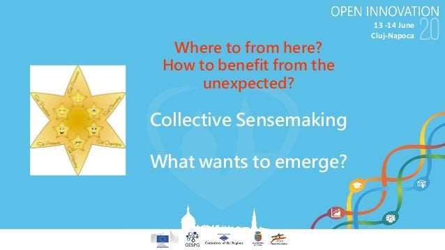 13-14June Cluj-Napoca Where to from here? How to benefit from the unexpected? Collective Sensemaking What wants to emerg...