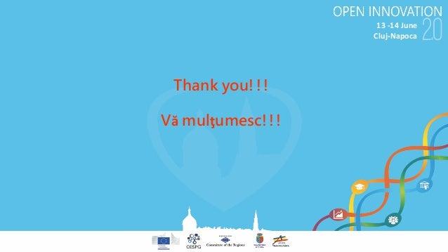 13-14June Cluj-Napoca Thank you!!! Vă mulţumesc!!!