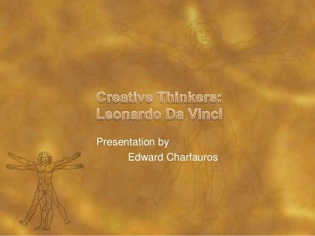 Presentation by Edward Charfauros