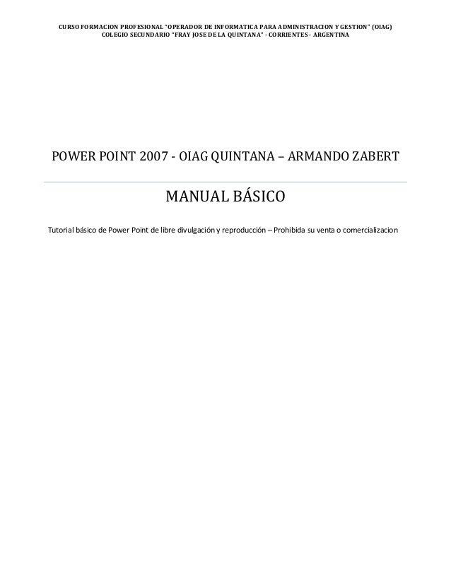 """CURSO FORMACION PROFESIONAL """"OPERADOR DE INFORMATICA PARA ADMINISTRACION Y GESTION"""" (OIAG)COLEGIO SECUNDARIO """"FRAY JOSE DE..."""