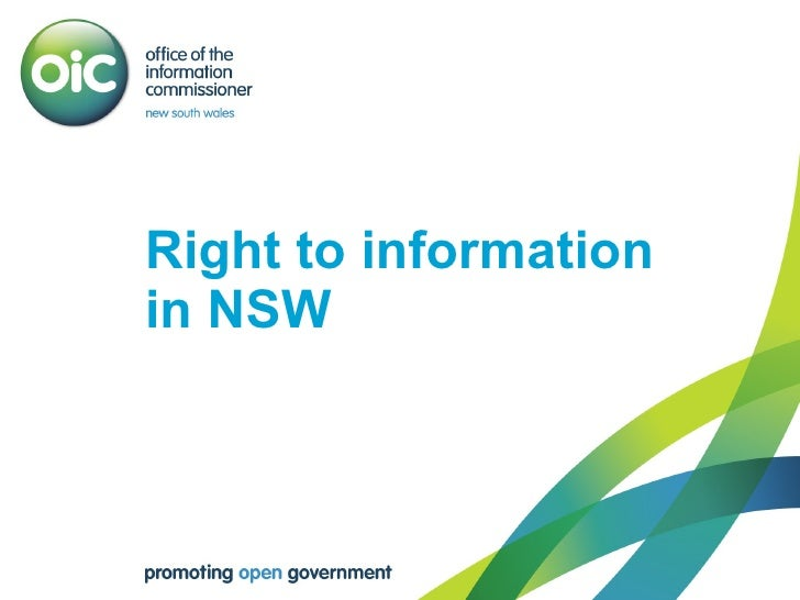 Right to information  in NSW