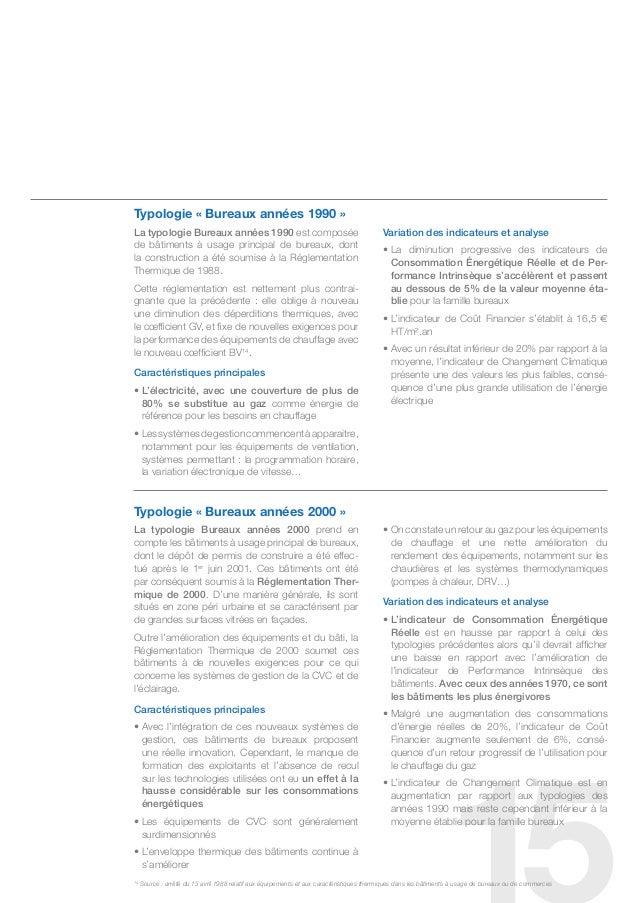 typologie « Bureaux années 1990 »La typologie bureaux années 1990 est composée                                            ...