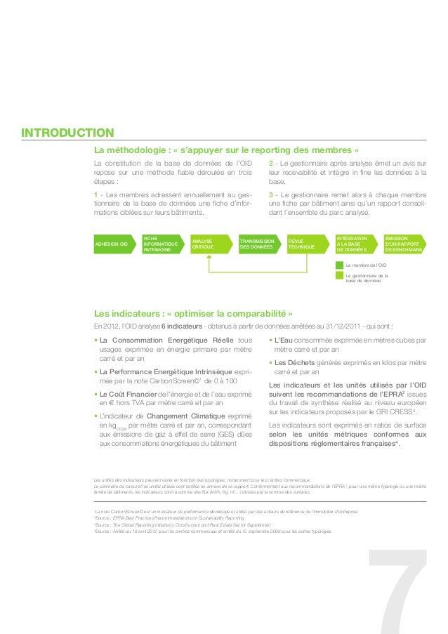 InTRODUCTIOn         La méthodologie : « s'appuyer sur le reporting des membres »         la constitution de la base de do...