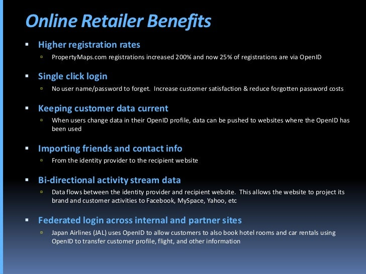 Online Retailer Benefits  Higher registration rates       PropertyMaps.com registrations increased 200% and now 25% of r...