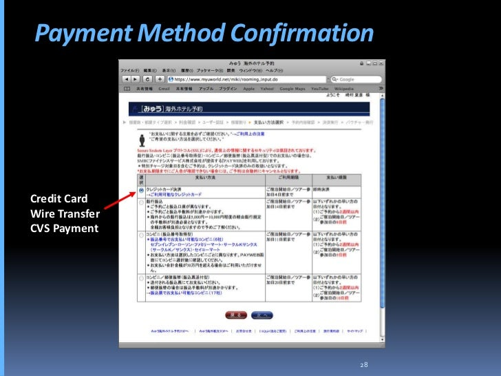 Payment Method Confirmation     Credit Card Wire Transfer CVS Payment                              28