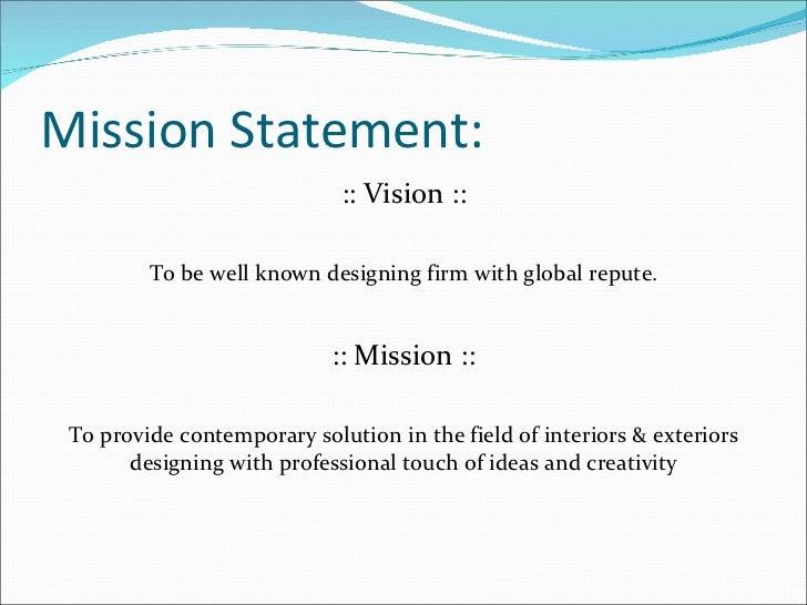 68 Interior Design Mission Statement Examples