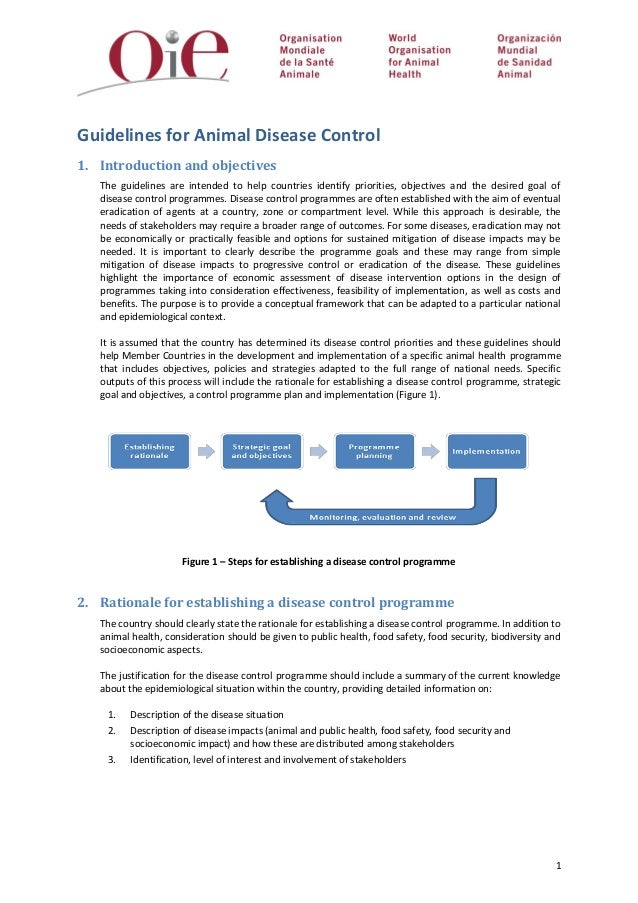 1Guidelines for Animal Disease Control1. Introduction and objectivesThe guidelines are intended to help countries identify...