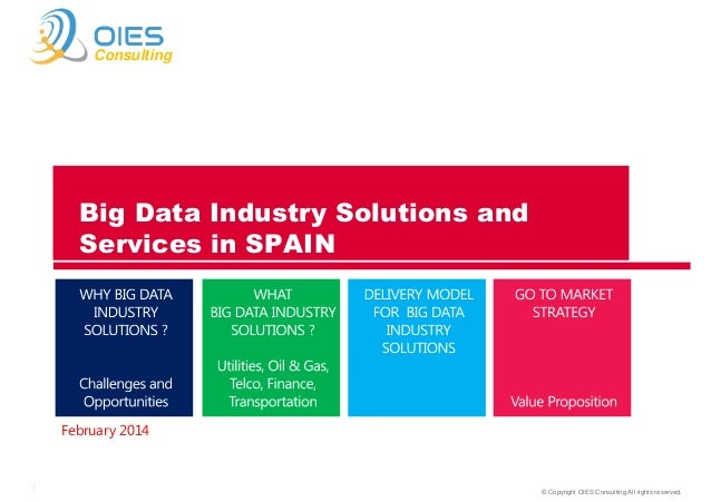 Consulting  Big Data Industry Solutions and Services in SPAIN  February 2014  1  © Copyright OIES Consulting All rights re...