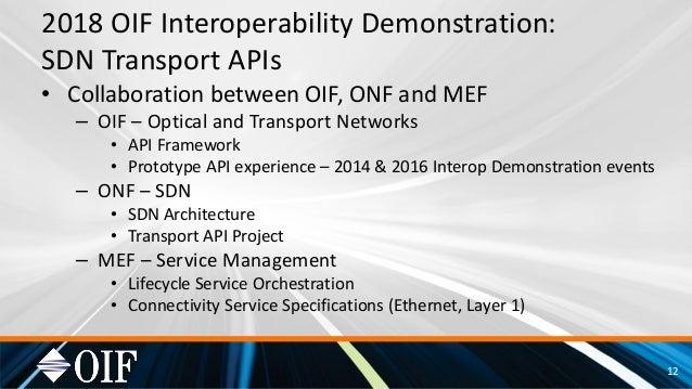 2018 OIF SDN T-API Readout 6 2018