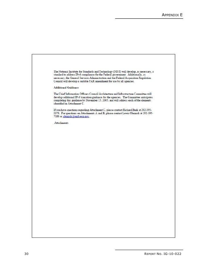 NASA OIG: Status of NASA's Transition to Internet Protocol Version 6 …