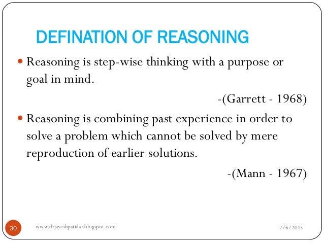 Reasoning and Thinking