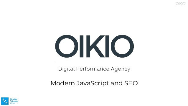 Modern JavaScript and SEO