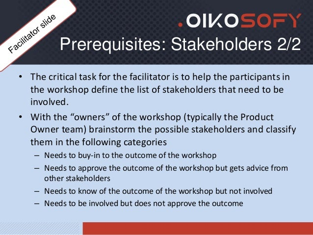 Oikosofy - The User Story mapping workshop - facilitator's guide Slide 3