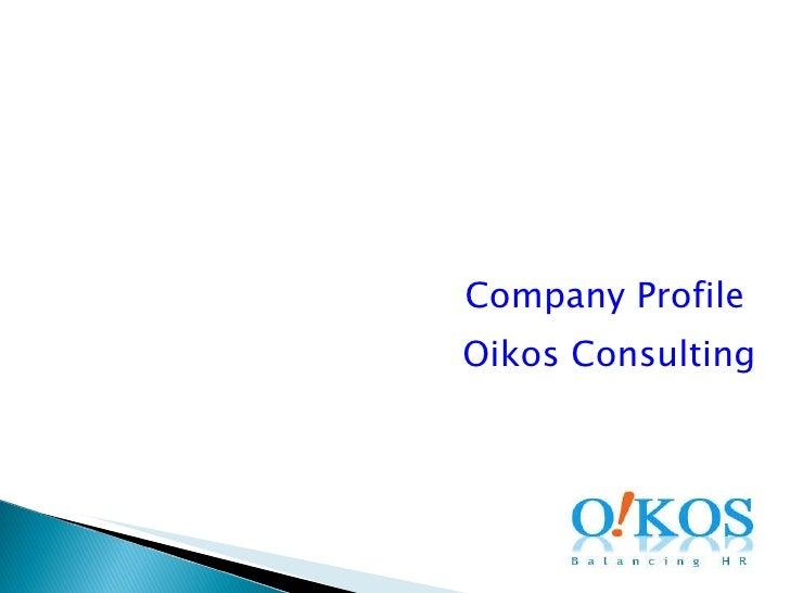Company Profile  Oikos Consulting