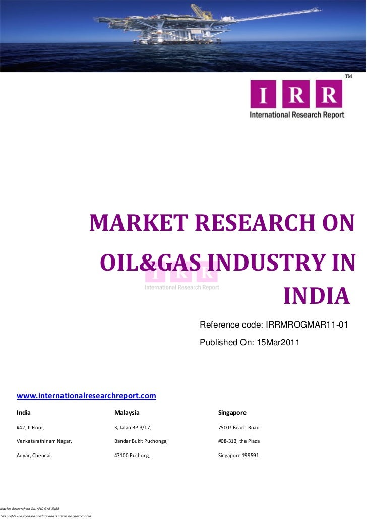 MARKET RESEARCH ON                                                                  OIL&GAS INDUSTRY IN                   ...