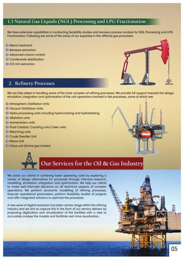 1.3 Natural Gas Liquids (NGL) Processing and LPG Fractionation '  We have extensive capabilities in conducting feasibility...