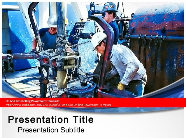 Oil and gas drilling powerpoint template toneelgroepblik Images