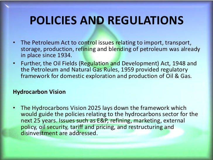 oil and gas industry in india The directorate general of hydrocarbons was established in 1993 under the administrative control of ministry of petroleum & natural gas through government of india resolution objectives of dgh are to promote sound management of the oil and natural gas resources having a balanced.