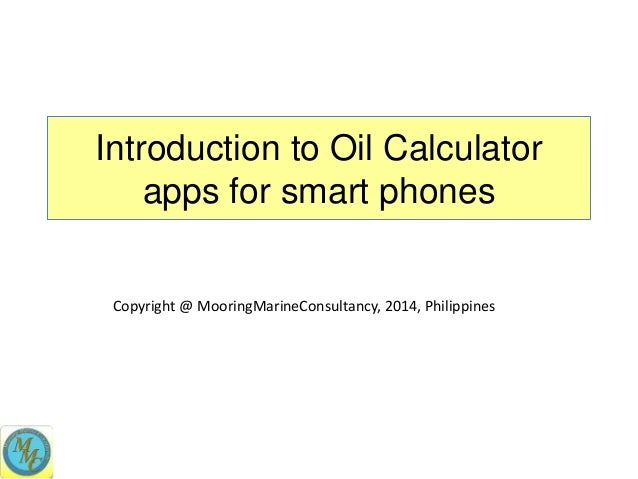Oil Calculator apps for iPhone, iPad and Android